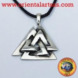 Ciondolo celtico Il Valknut o nodo di Odino in argento