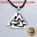 The Valknut Pendant Celtic or Odin's knot silver