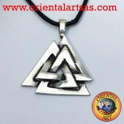 Le Pendentif Celtic Valknut ou d'un noeud de l'argent d'Odin