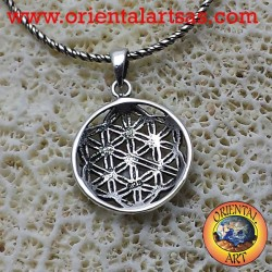 Flower of life pendant silver (flower with six petals)