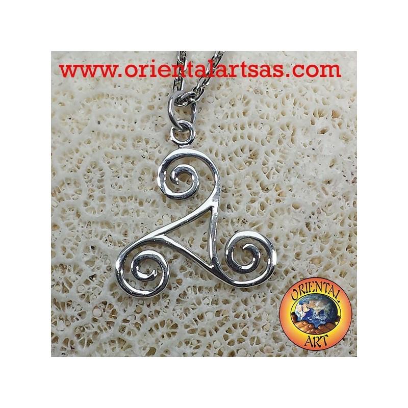 Ciondolo in argento Triskele triskell triscele triquetra triskelion