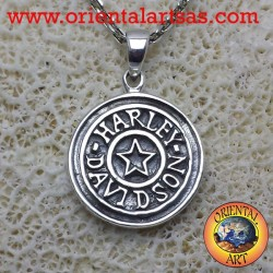 Harley Davidson with pendant in silver star 925