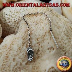 Silver chain earrings with 6 cm flip flops