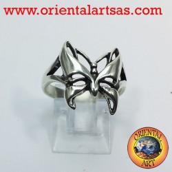 Anillo de la mariposa, plata 925