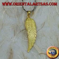 Серебряная подвеска крыло ангела позолоченное