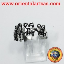 Ring with Butterflies, silver