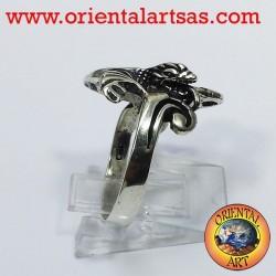 Drachen Ring mit Flügeln (Basilisk) Silber