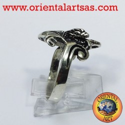 Dragon ring with wings (Basilisk) Silver