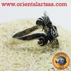 Anneau de dragon avec des ailes (Basilic) Argent