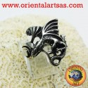 Anello Drago con ali (Basilisco ) in argento