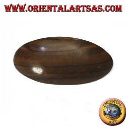 Fermacapelli a clip in legno di ebano, ovale liscio