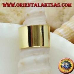 Boucle d'oreille en argent, bande lisse plaquée or