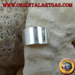 Silver ear cuff earring, smooth band