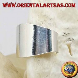 Orecchino Ear Cuff in argento, a fascia liscia larga