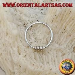 Cerchietto in argento da naso fila di dischi da 10 mm.