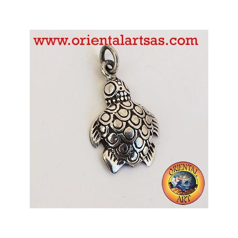 Ciondolo tartaruga marina in argento