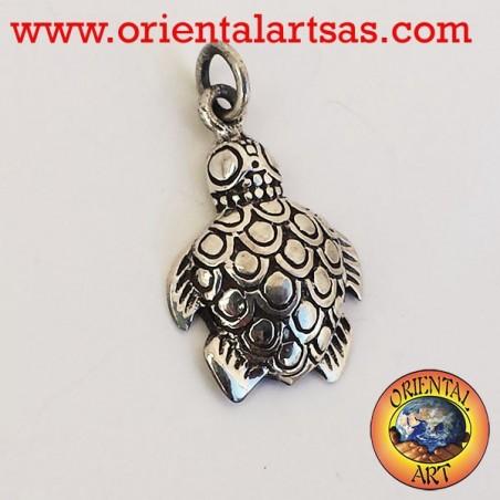 Pendant sea turtle silver