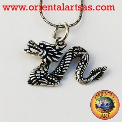 Pendant Chinese Dragon Silver