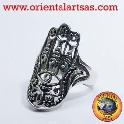 Anello mano di Fatima in argento