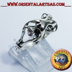 Ring erotic Kamasutra 69 silver