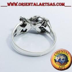 Ring erotic Kamasutra 69 silver