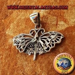 Ciondolo Farfalla Monarca in argento
