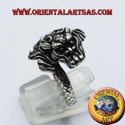 Ring Dragon Nepalese Silver