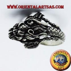 Anello Drago Nepalese in argento