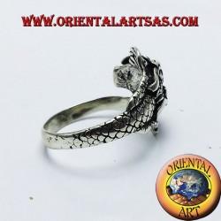 Anillo de plata del dragón de Nepal