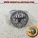 anello albero della vita celtico in argento