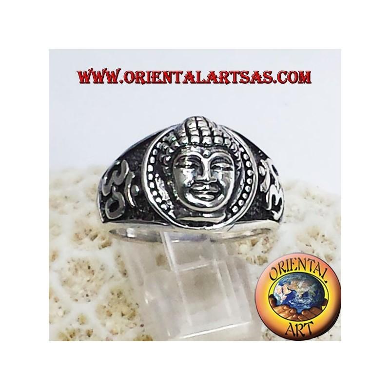 Tête de Bouddha avec Om bague en argent