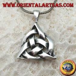 Ciondolo in argento Triquetra con il cerchio cosmico, nodo di tyrone