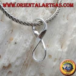 Ciondolo in argento, simbolo nodo dell'infinito senza gancio