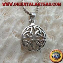 Pendentif en argent, noeud Duleek symbole celtique (petit)