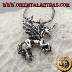 Ciondolo in argento Pegaso tridimensionale
