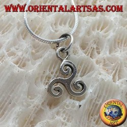 Pendant in silver, triskelion or simple classic triskele (small)