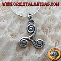 Подвеска из серебра, трискелиона или трискелиона со спиральными наконечниками