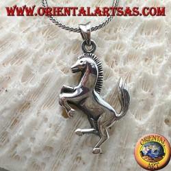 Silberanhänger, zügelloses Pferdesymbol von Ferrari (groß)