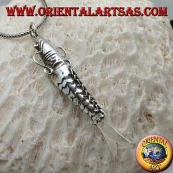 Ciondolo in argento, pesce mobile