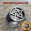 Anello con pentacolo in argento