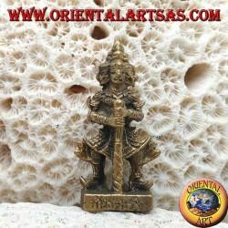 "Scultura Yaksha ""il custode"", uno dei 12 yak guardiani del Wat Phra Kaew di Bangkok, in ottone (piccola)"
