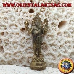 """Sculpture de Ganesh """"le dieu éléphant"""" debout, laiton (petit)"""