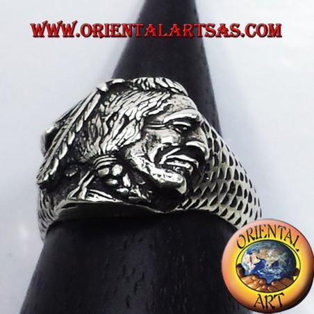 Anello Indiano nativi in argento Lakota, Apache, Sioux , cheyenne