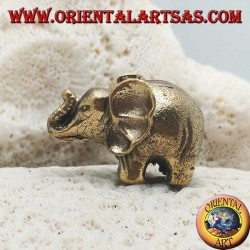 Thai elephant sculpture with large brass ears (small)