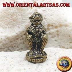 "Hanuman sculpture ""the monkey god"", symbol of strength, perseverance and devotion, thai brass pose (small)"