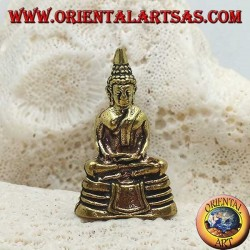 """Buddha sculpture """"Dhyana Mudra - symbol of meditation and wisdom"""" on the brass altar (small)"""