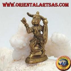 """Hanuman-Skulptur """"Der Affengott"""", Symbol für Stärke, Ausdauer und Hingabe, stehend in Messing (klein)"""