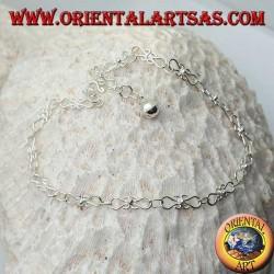 Bracelet de cheville courbe en argent avec une cloche