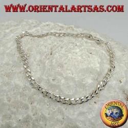 Pulsera fina de plata Groumette, cadena plana