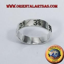 Anello Fedina Om (sillaba sacra ) traforato in argento